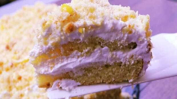 Лимонный торт. Нежность лимонник, тающая во рту