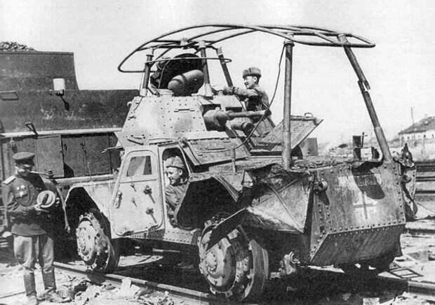 трофейный Панар Р204(f) железнодорожный, 1944
