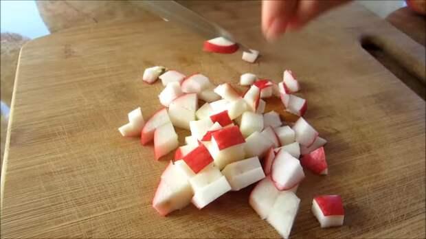 Пушистые лепешки на кефире с карамелизированными яблоками Еда, Вкусно, Рецепт, Лепешки, Яблоки, Другая кухня, Длиннопост, Видео рецепт, Тесто, Видео