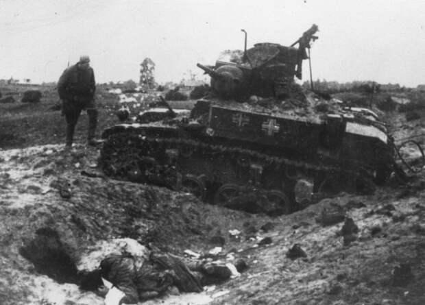 трофейный подбитый м3 Стюарт в Эстонии 1944