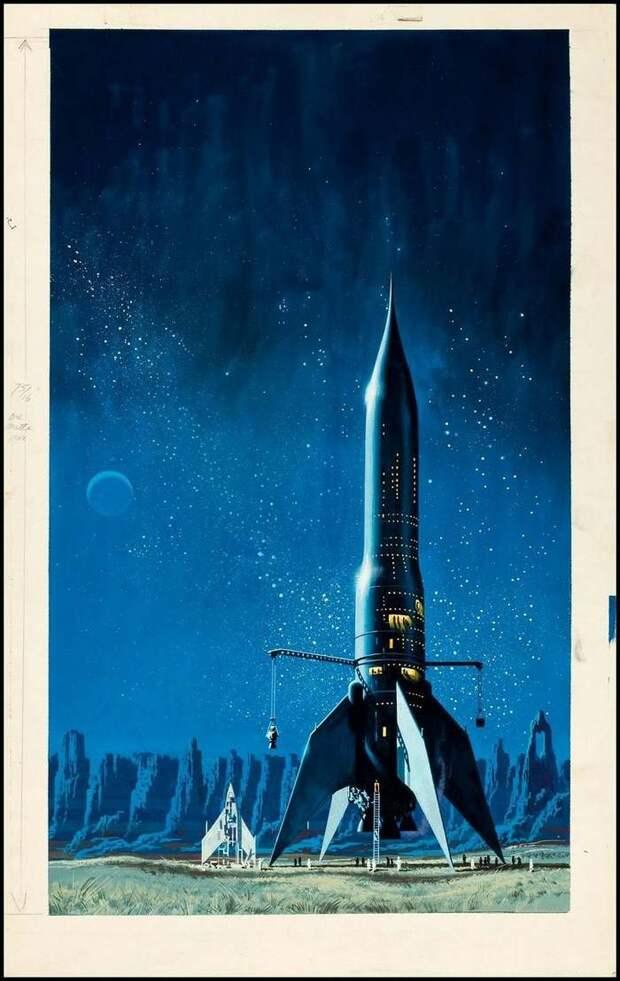 Космические ракеты глазами художников до того, как они на самом деле полетели в космос: Ракета, Космос, Ретрофутуризм, Фантастика, Длиннопост