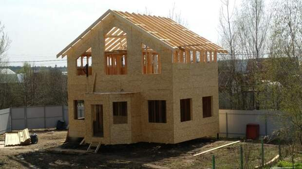 Силовой каркас дома готов!!! дача, дом своими руками, строим сами