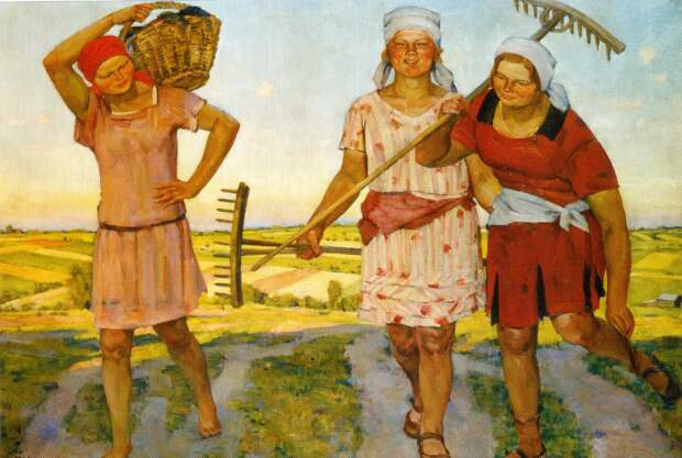Здоровое крестьянское тело...или как рисовали колхозниц в 30-х годах 20 века