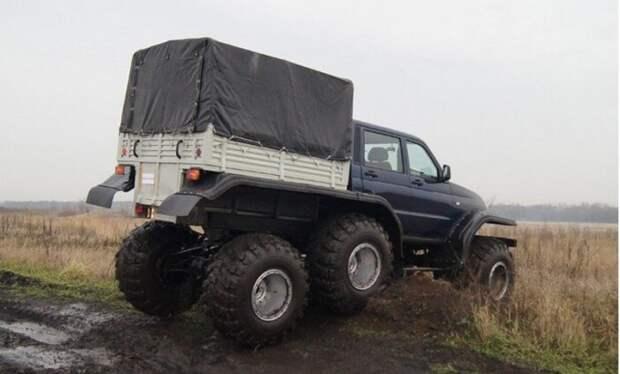 Грузоподъемность машины – до тонны на пересеченной местности и 1,5 тонны на хорошей дороге. | Фото: autobelyavcev.ru.