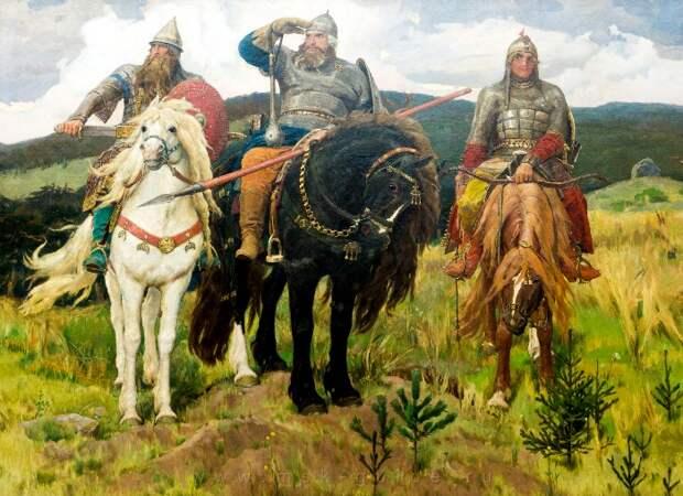 Васнецов, хоть и довольно точно изобразил богатырей, однако далеко не все из того, что у них было. /Фото: msk-guide.ru