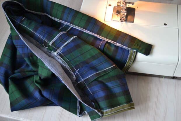 Пояс с хлястиком для прямой юбки