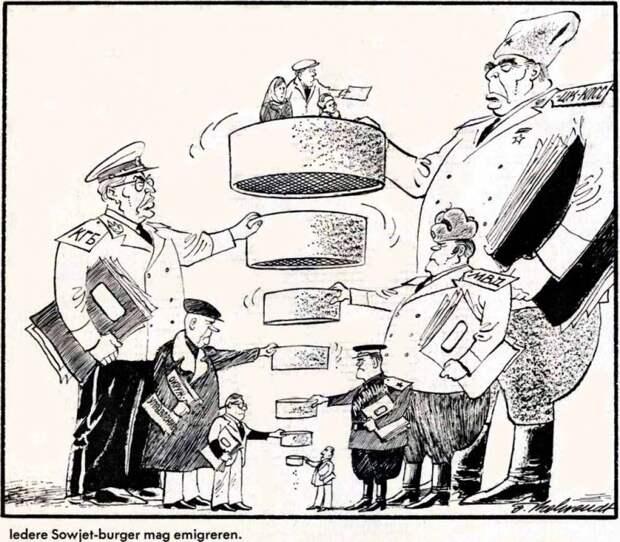 Процесс просеивания советских граждан, выражающих желание эмигрировать из СССР (1976 год)
