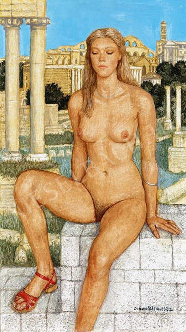 Обнаженная натура в изобразительном искусстве разных стран. Часть 116.