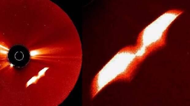 Близ Солнца оборудование НАСА зафиксировало загадочный объект с крыльями
