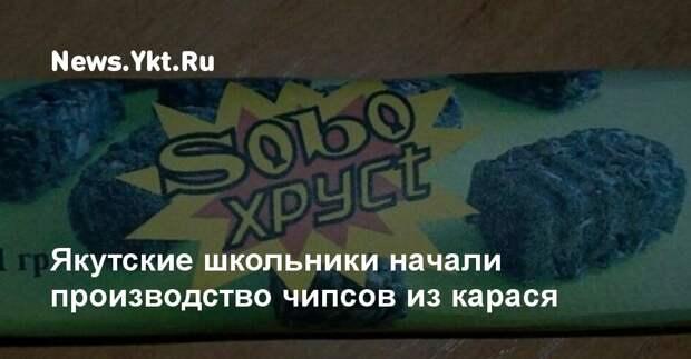 Якутские школьники запустили производство чипсов из карася