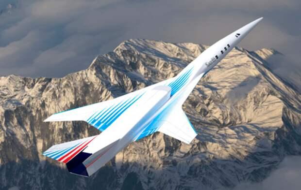 Новый сверхзвуковой деловой самолет РФ получил необычную форму фюзеляжа