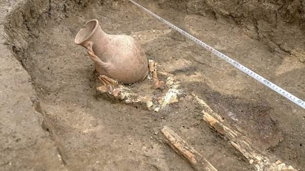 Под Краснодаром обнаружено погребение сарматского воина