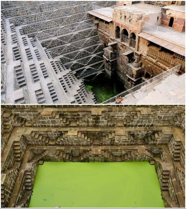 На 13 уровнях колодца создано около 3,5 тыс. ступеней (Чанд Баори, Индия).