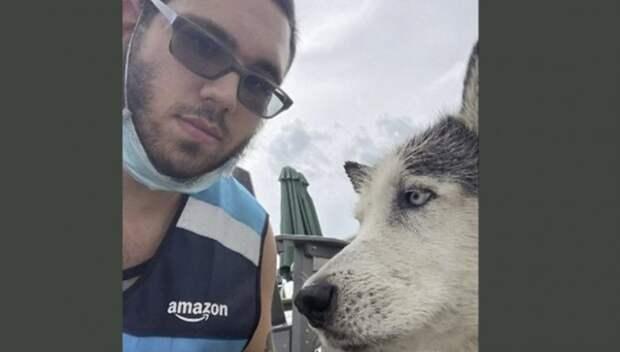 Локальные новости: Водитель службы доставки Amazon нырнул в бассейн и спас тонувшую собаку