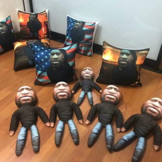 Бизнес наФлойде: россиянин шьет мягкие игрушки ввиде погибшего афроамериканца