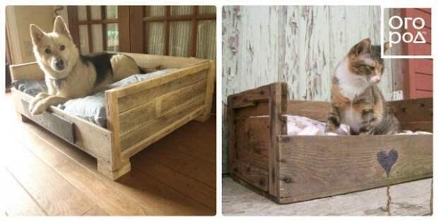 домик для домашних питомцев из поддонов