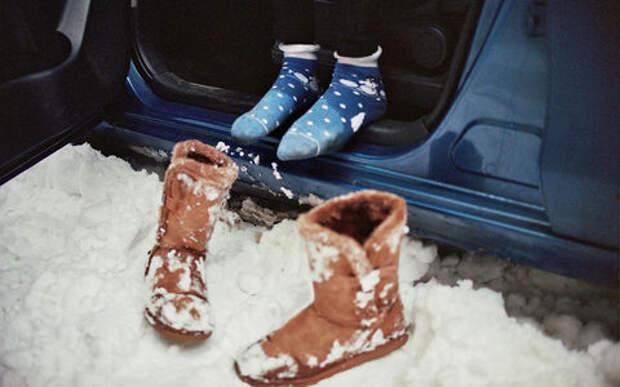 Сколько снега в салоне! Не замкнет ли проводка?