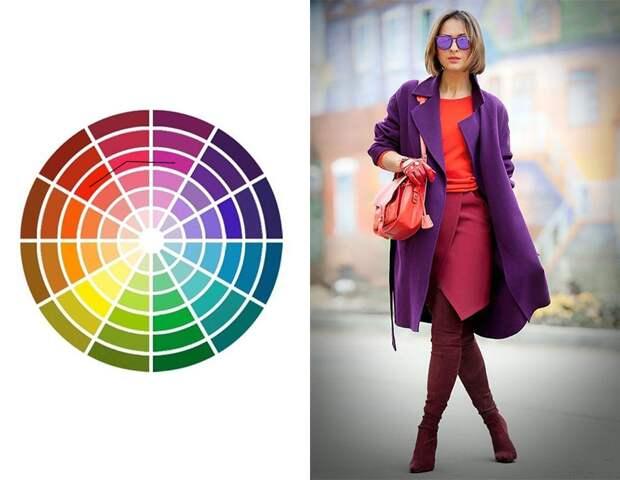 Фото 15 - Сочетание цветов, расположенных рядом в цветовом круге (идеально сочетать 2-3 цвета, но можно до пяти).