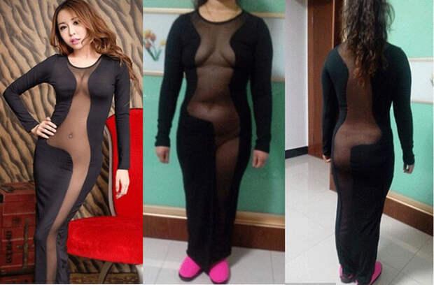 Ожидание vs. реальность: как выглядят «сексуальные» платья сAliExpress