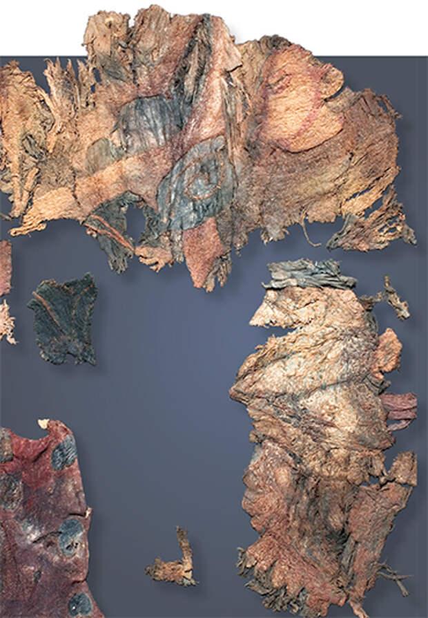 Фрагмент шелковой ткани с вышивкой. 20-й ноин-улинский курган