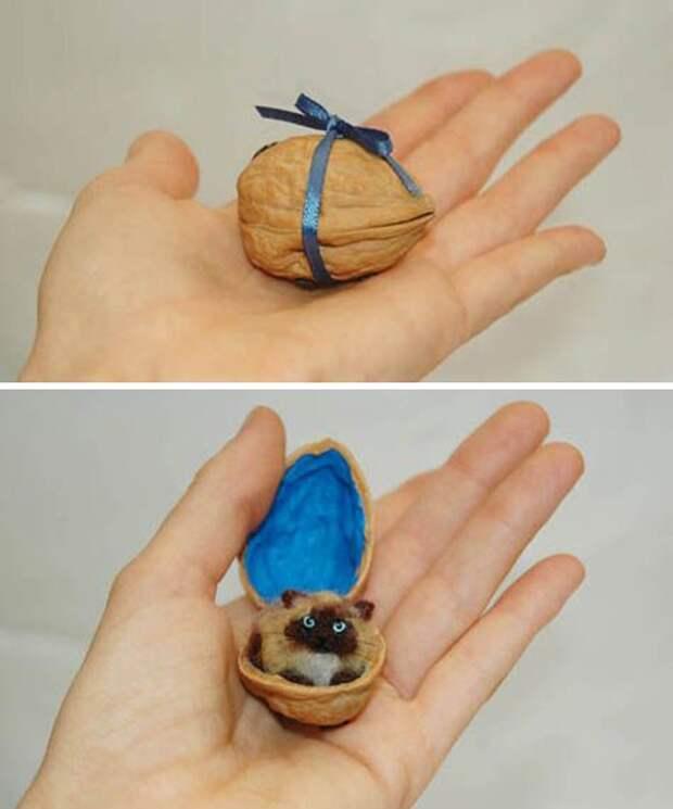 Щёлкаем орешки: скорлупа грецкого ореха как материал для вашего творчества, фото № 9