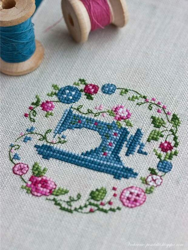 Схема вышивка швейной машинки зингер