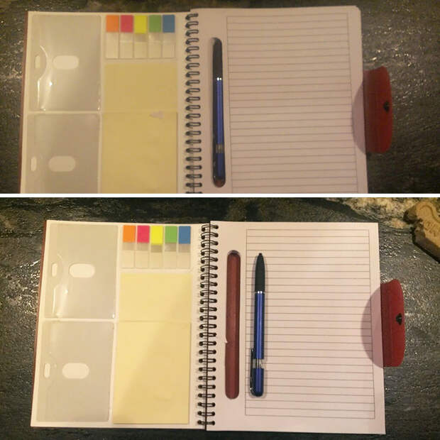 This Notebook Has A Hole Cut In The Paper For Your Pen