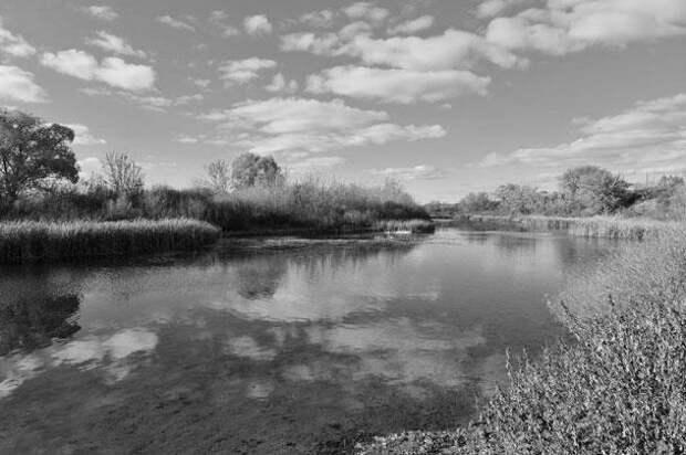 Река Чаган, село Красное