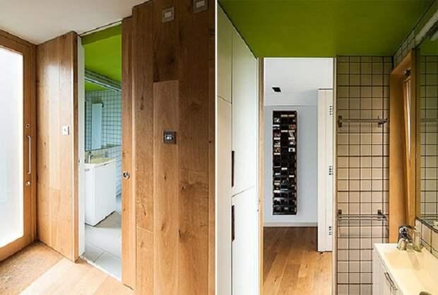 Ванная комната маленького дома.