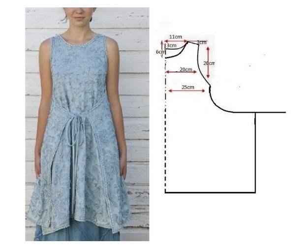 Выкройка летней блузы жилета
