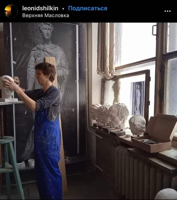 Фото дня: мастер за работой на Верхней Масловке