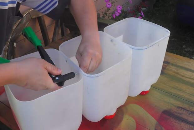 Достойная идея применения пластиковых канистр