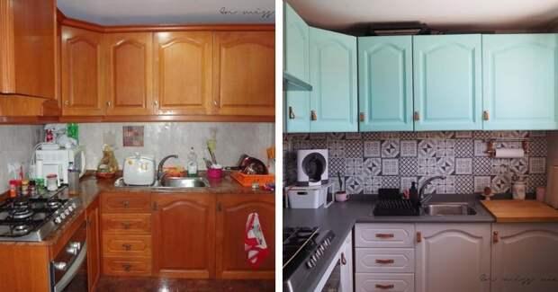 Отличный пример ремонта кухни своими руками на бюджете