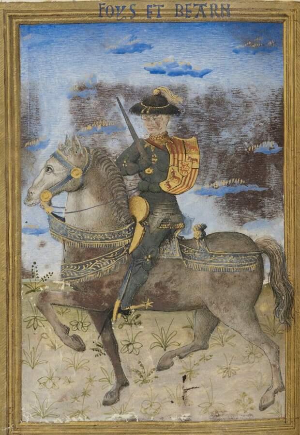 Гастон IV (1422 – 1472) - суверенный Виконт Беарна и граф Фуа и Бигорра во Франции с 1436 по 1472 год. Он также владел виконтами Марсан, Кастельбон, Небузан, Вильмер и Лотрек и был, в силу графства Фуа, соправителем Андорры. С 1447 года он также был виконтом Нарбонны. Благодаря браку с Элеонорой, наследницей Наваррского королевства, он также носил титул принца Наваррского.