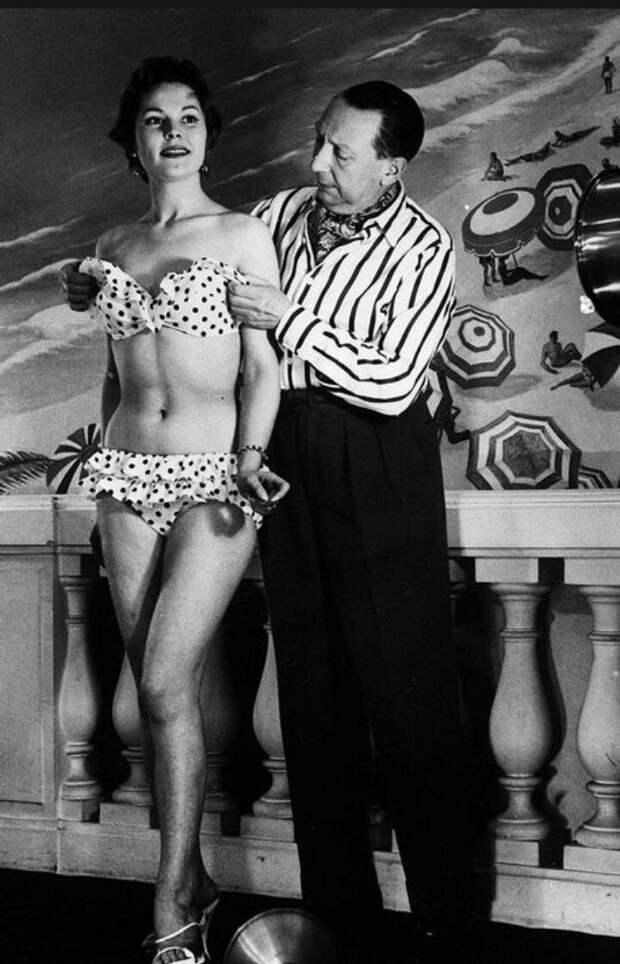 Парижский модельер Луи Реар (Louis Reard), 1946 год, Франция история, мгновения жизни, фотография