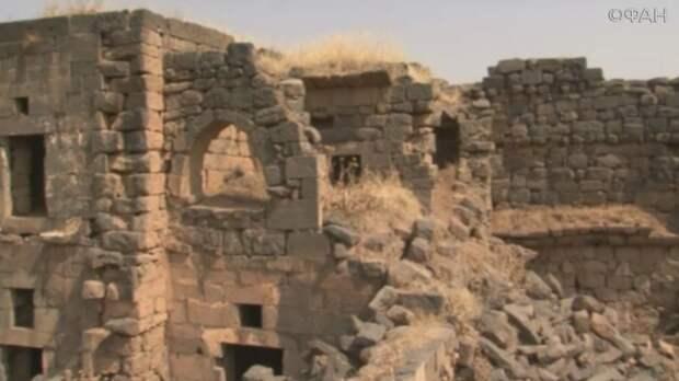 Власти Сирии восстанавливают древний замок Хирбет Газале в Даръа