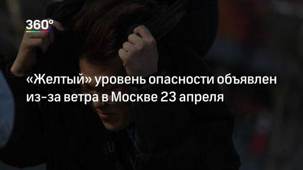 «Желтый» уровень опасности объявлен из-за ветра в Москве 23 апреля