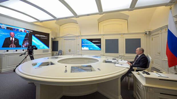 Путина вывели в эфир саммита по климату во время выступления Макрона