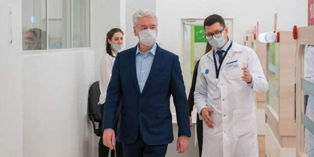 Собянин рассказал о новой службе телемедицины для пациентов с COVID-19/ Фото mos.ru