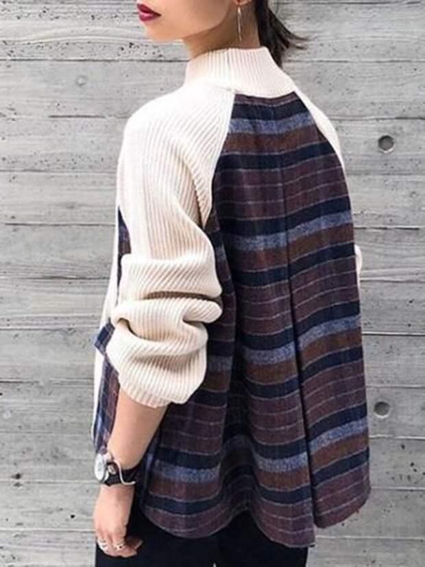 переделка свитера увеличиваем размер