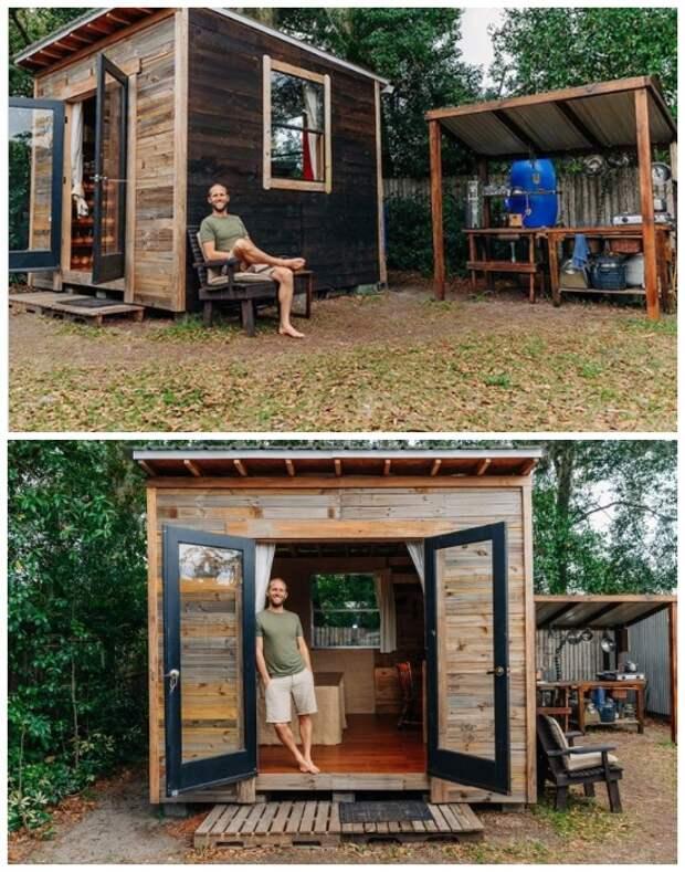 Крошечный дом Роба Гринфилда, построенный в рамках проекта «Teeny Greeny» (США).   Фото: tiredbee.com.