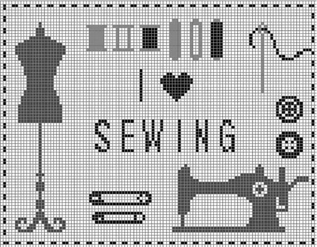 Схема вышивка швейной машинки