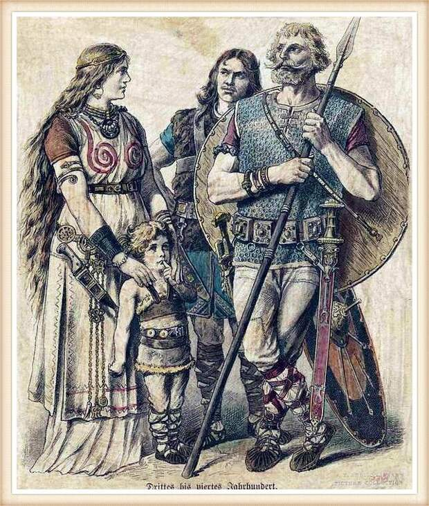 Семья древних германцев