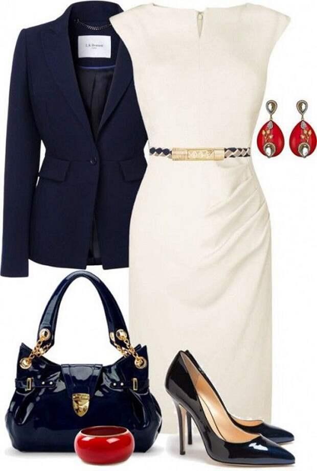 с чем носить белое платье осенью