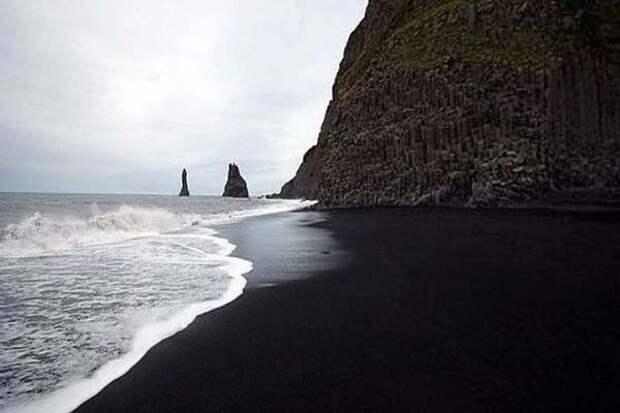 пляж Вик в Исландии фото