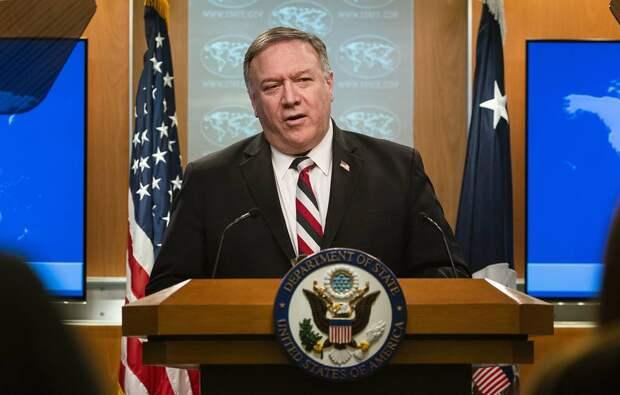 Госсекретарь США Майкл Помпео EPA-EFE/JIM LO SCALZO