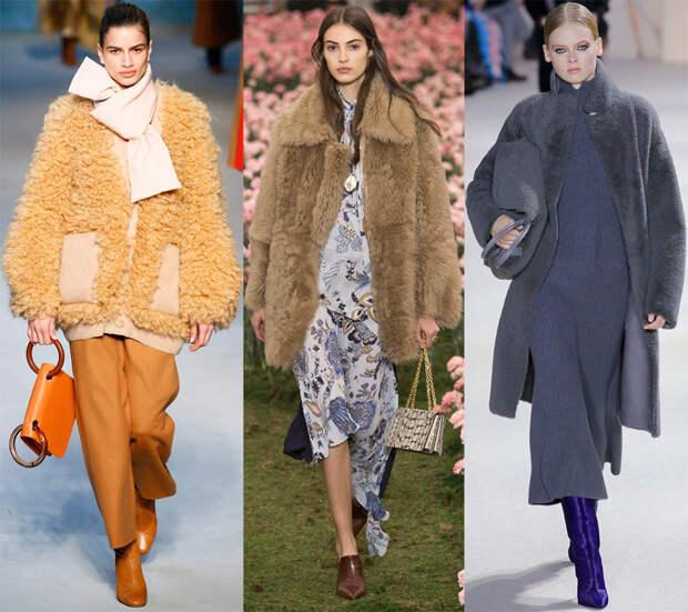 Модная меховая одежда 2018-2019