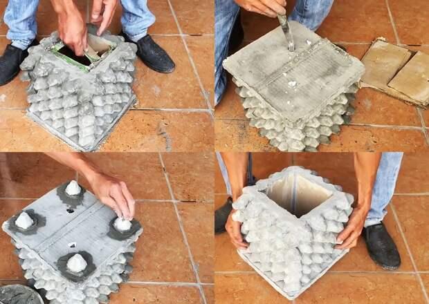 Крепкая форма из яичных лотков