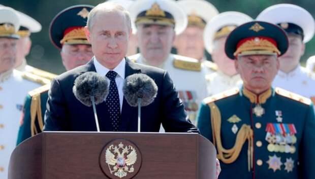 Путин поздравил моряков с Днем ВМФ
