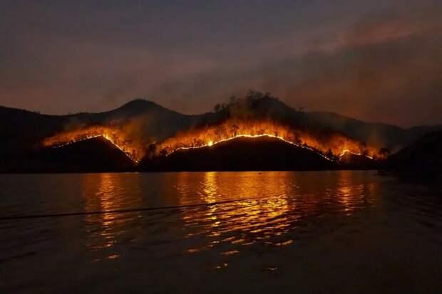 Лесные пожары угрожают популярным курортным городам Турции